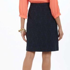 20d70f560 Anthropologie Skirts - Anthropologie Moulinette Soeurs Navy Brocade Skirt